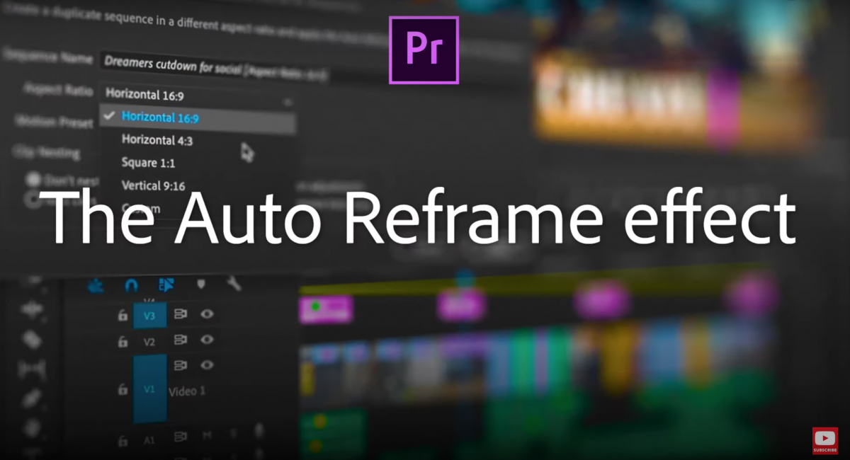 Quick Tips #3 - Adobe Premiere - Auto Reframe